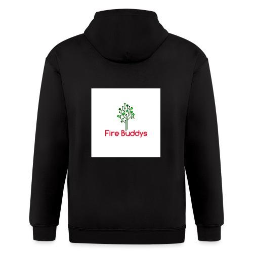 Fire Buddys Website Logo White Tee-shirt eco - Men's Zip Hoodie