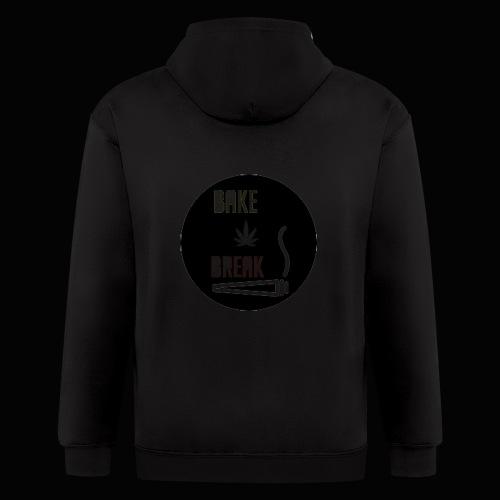 Bake Break Logo Cutout - Men's Zip Hoodie
