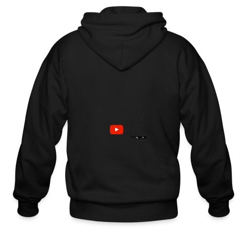 Flip it t-shirt black letting youtube logo - Men's Zip Hoodie