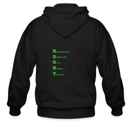 Rugby design for T-shirts and other merchandise - Men's Zip Hoodie