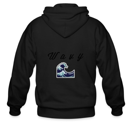 Wavy Abstract Design. - Men's Zip Hoodie