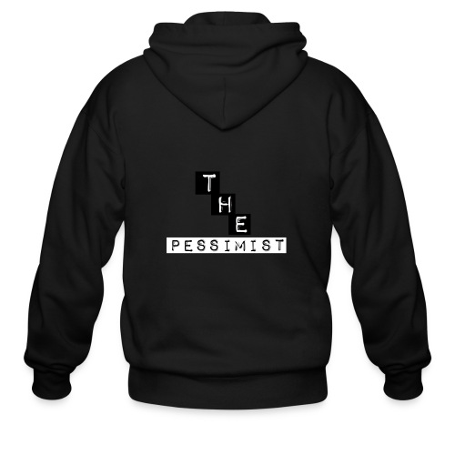 The pessimist Abstract Design - Men's Zip Hoodie