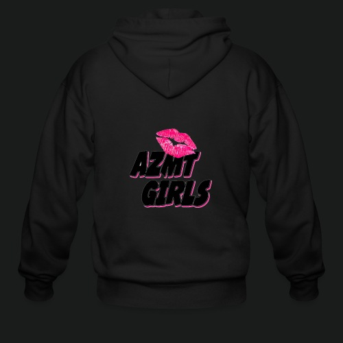 azmt girls logo #2 - Men's Zip Hoodie