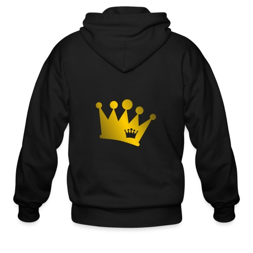 Double Crown gold - Men's Zip Hoodie