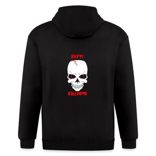 Halloween Skull - Men's Zip Hoodie