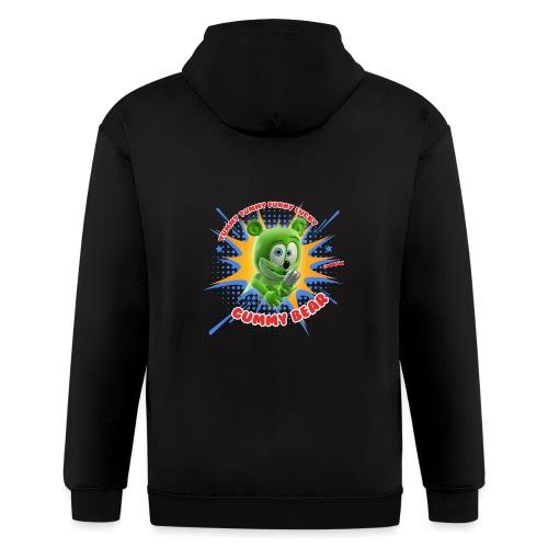 Funny Lucky Gummy Bear - Men's Zip Hoodie