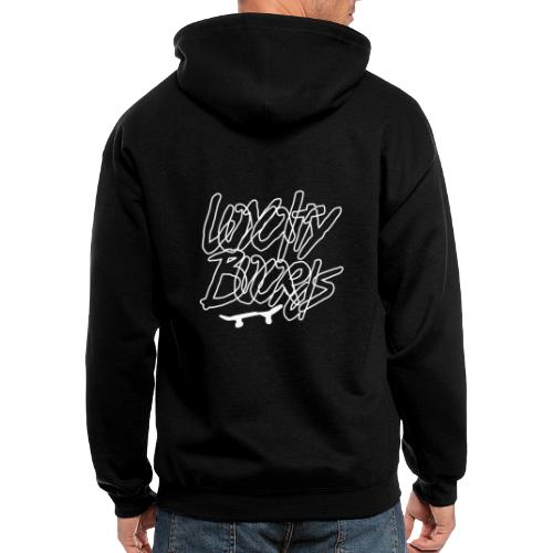 Loyalty Boards White Font With Board - Men's Zip Hoodie