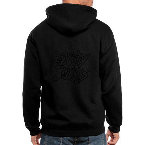 Loyalty Boards Black Font - Men's Zip Hoodie