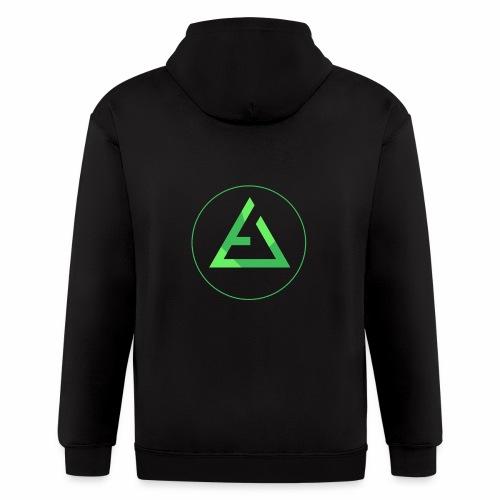 crypto logo branding - Men's Zip Hoodie