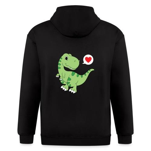 Dinosaur Love - Men's Zip Hoodie