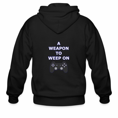 A Weapon to Weep On - Men's Zip Hoodie