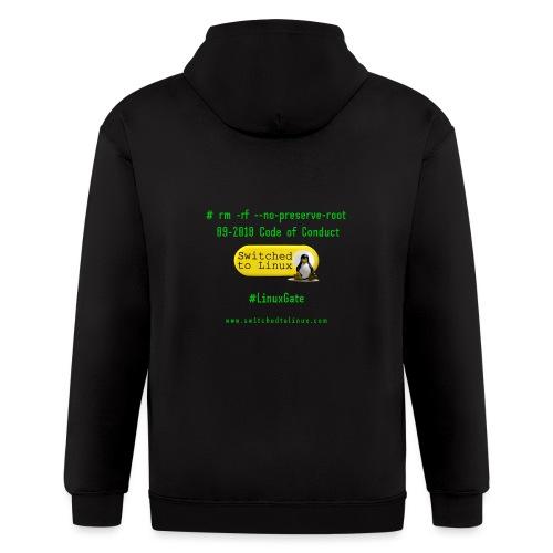 rm Linux Code of Conduct - Men's Zip Hoodie