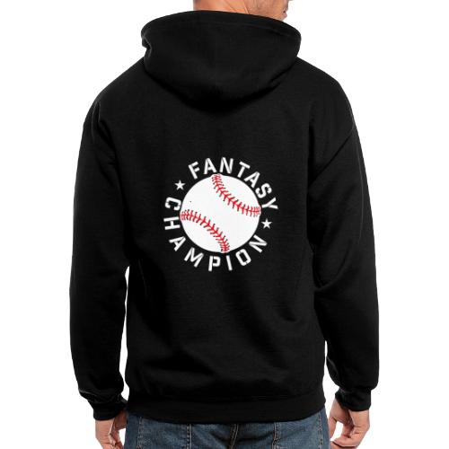 Fantasy Baseball Champion - Men's Zip Hoodie