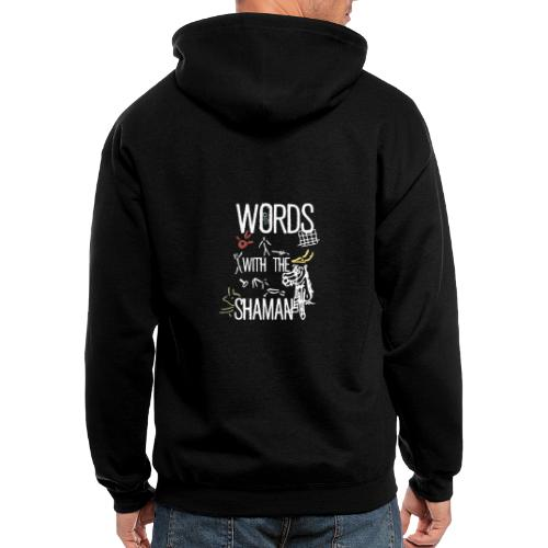 Words with the Shaman - Men's Zip Hoodie