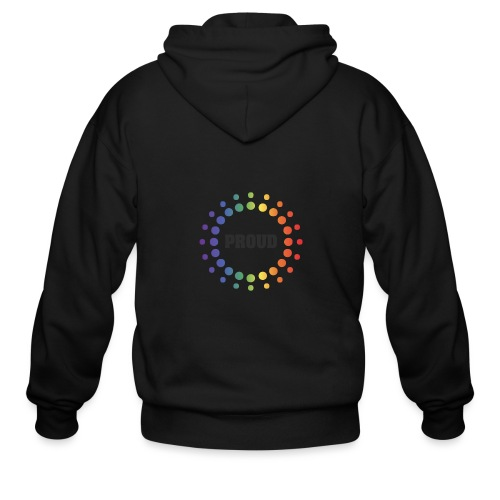 Proud Circles - Men's Zip Hoodie