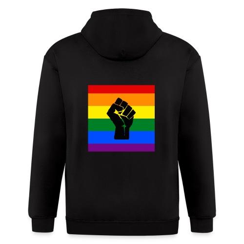 BLM Pride Rainbow Black Lives Matter - Men's Zip Hoodie