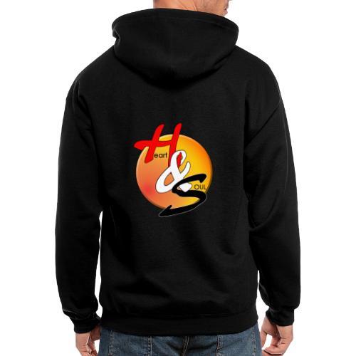 Rcahas logo gold - Men's Zip Hoodie