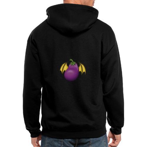 Eggplant Logo - Men's Zip Hoodie