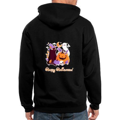 Halloween happy - Men's Zip Hoodie