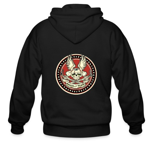 Brush With Death - Men's Zip Hoodie