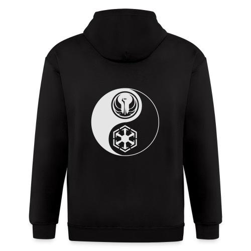 Star Wars SWTOR Yin Yang 1-Color Light - Men's Zip Hoodie