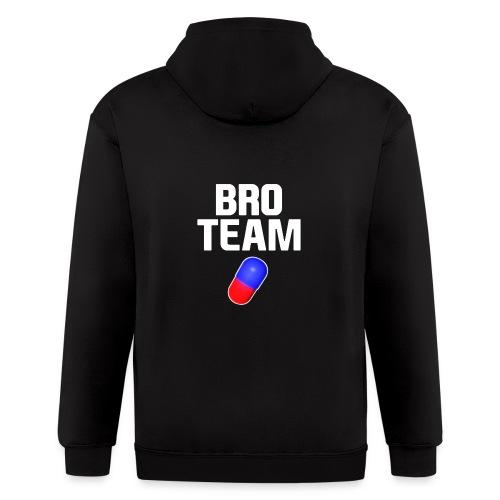 Bro Team White Words Logo Women's T-Shirts - Men's Zip Hoodie