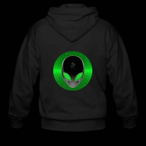 Psychedelic Alien Dolphin Green Cetacean Inspired - Men's Zip Hoodie