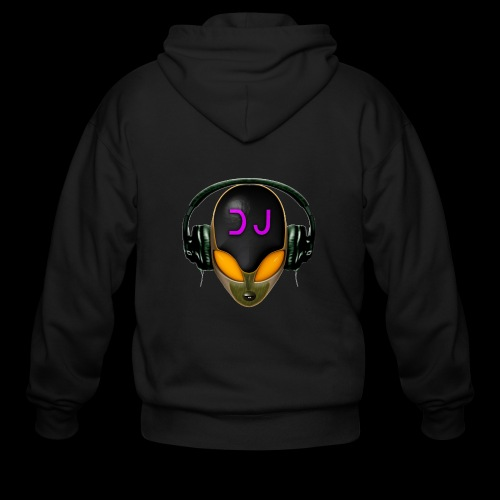 Alien DJ - Orange - Hard Shell Bug - Men's Zip Hoodie