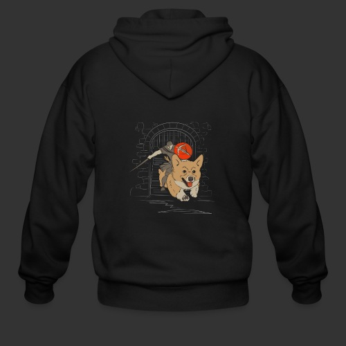 A Corgi Knight charges into battle - Men's Zip Hoodie