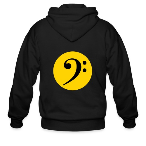 Bass Clef in Circle - Men's Zip Hoodie