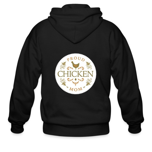 proud chicken mom - Men's Zip Hoodie