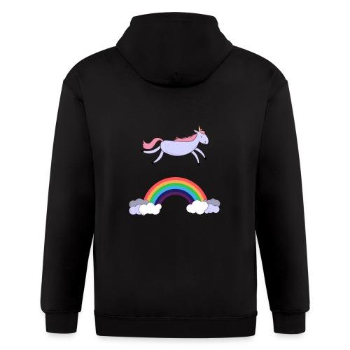 Flying Unicorn - Men's Zip Hoodie