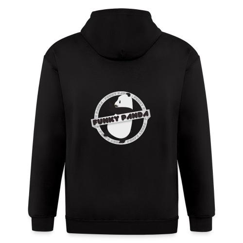 Funky Panda Logo - Men's Zip Hoodie