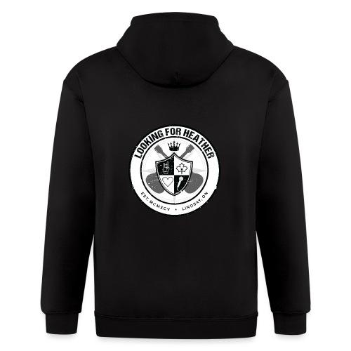 Looking For Heather - Crest Logo - Men's Zip Hoodie