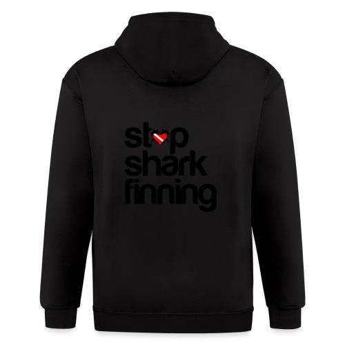 Stop Shark Finning - Men's Zip Hoodie