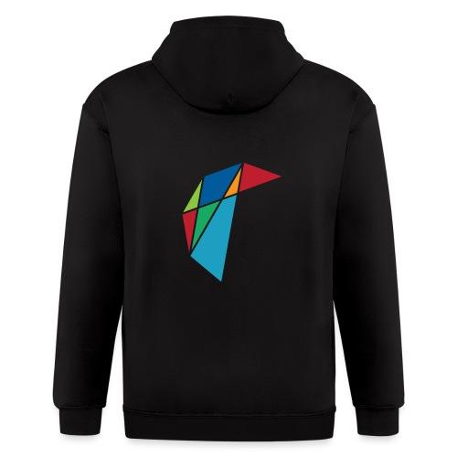 GLARE Logo - Men's Zip Hoodie