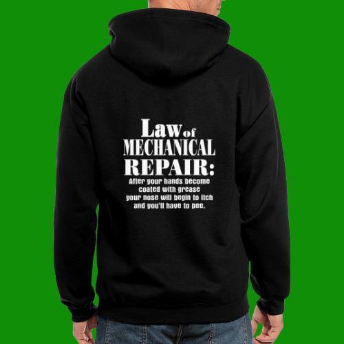 Law of Mechanical Repair - Men's Zip Hoodie