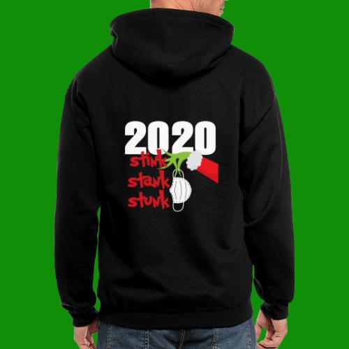 2020 Stink Stank Stunk Christmas - Men's Zip Hoodie