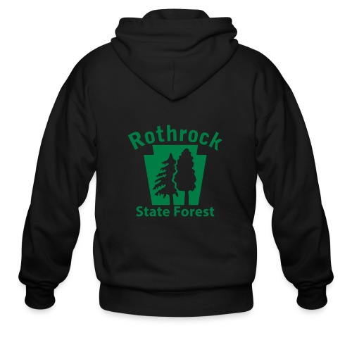 Rothrock State Forest Keystone (w/trees) - Men's Zip Hoodie