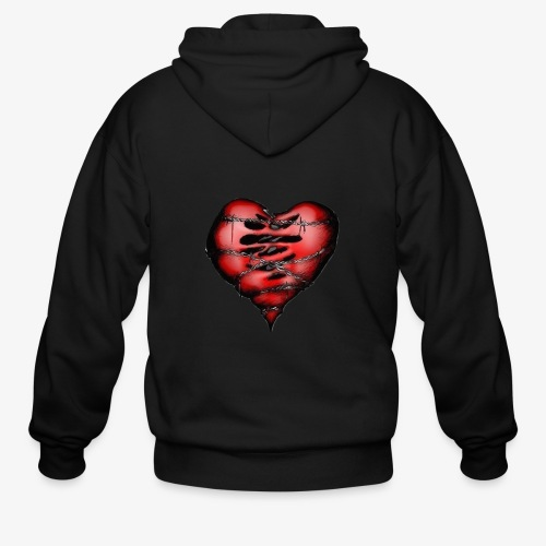 Chains Heart Ceramic Mug - Men's Zip Hoodie