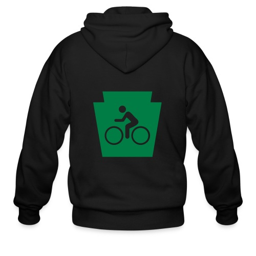 PA Keystone w/Bike (bicycle) - Men's Zip Hoodie