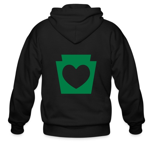Love/Heart PA Keystone - Men's Zip Hoodie