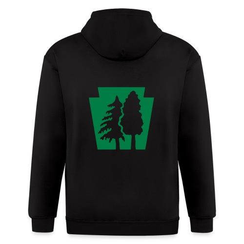 PA Keystone w/trees - Men's Zip Hoodie