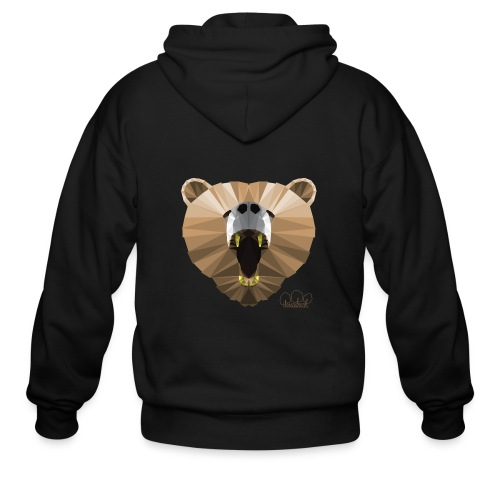 Hungry Bear Women's V-Neck T-Shirt - Men's Zip Hoodie