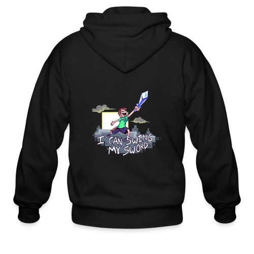 I Can Swing My Sword - Men's Zip Hoodie