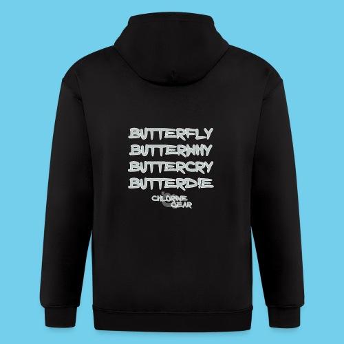 Butterwhy.png - Men's Zip Hoodie