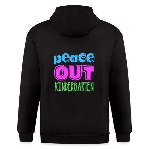 Kreative In Kinder Peace Out - Men's Zip Hoodie