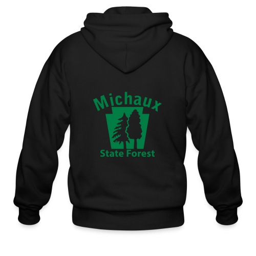 Michaux State Forest Keystone (w/trees) - Men's Zip Hoodie