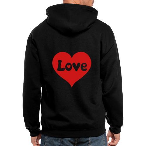 Love Heart - Men's Zip Hoodie