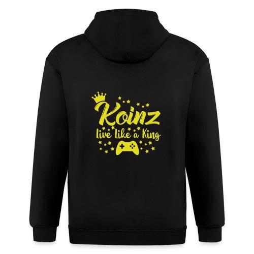 Live Like A King - Men's Zip Hoodie